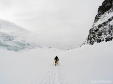 Henry tracks the glacier