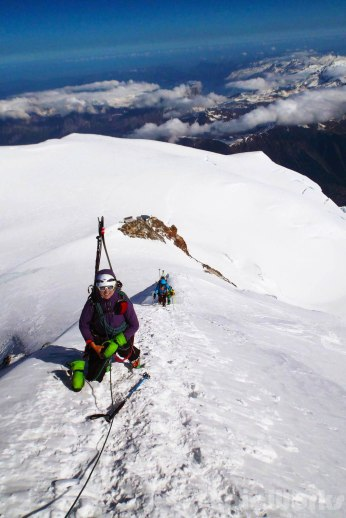 Anne starts the ridge (Courtsey N. Valdenaire)