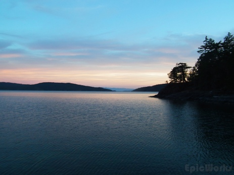 From the campsite (Martin Island).