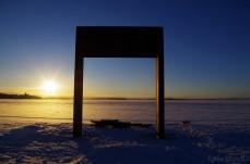 Sunrise over the ice-sea