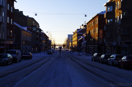The frozen streets of Lulea