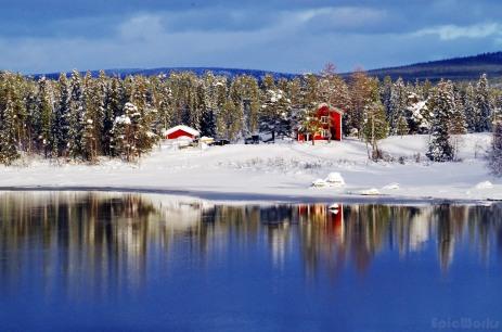 Idyllic landscape, north of Jokkmokk