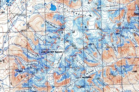 Detail of Ak-Shirak 100K map