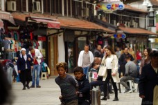 The busy streets of Peja