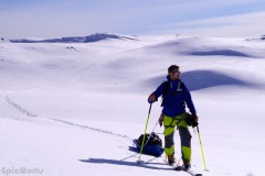 I go out to try my pulk solo in the Hauts Plateaux du Vercors
