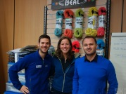 We get a warm welcome at the Beal factory in Vienne. We leave with some brand new climbing ropes!