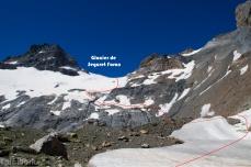 Descent via le Glacier de Seguret Foran