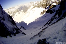 First person view of the traverse and climb.