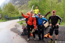 The col des Ecrins team, ready to go, June 2012.
