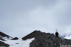 Up the morraine du Glacier de Bonne Pierre.