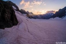 Birds-eye view of the Glacier Blanc.