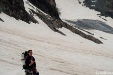 Vincent on the glacier, July 2012.