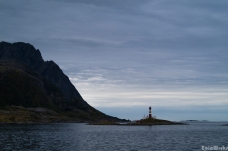 Lighthouse cruising out towards the Lofoten isles.
