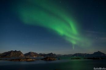Fairy lights across the bay
