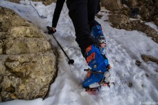 Freeride boots and crampons