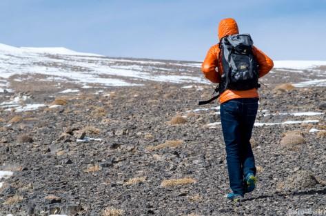 Across the summit plateau