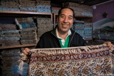 No place for boring rugs: Javier Bardem also sells carpets in Esfahan.