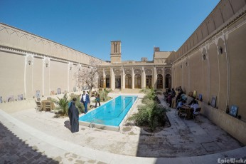 One of the inner courtyards in Yazd, where we found ourselves enjoying an improvised second breakfast.