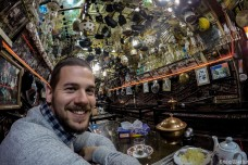 Inside the most overdecorated teahouse. Ever!