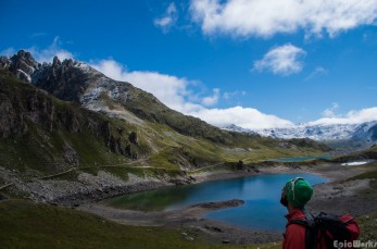Our objective, rising up above the lac du Gran Ban