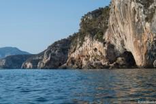 The rocky limestone of the Golfo di Orosei has many hidden caves
