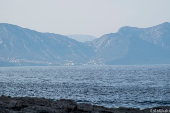 All in a days work, view across to Cala Gonone from cala Marioulu