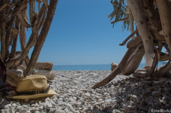 Siesta time, looking out at the sea...