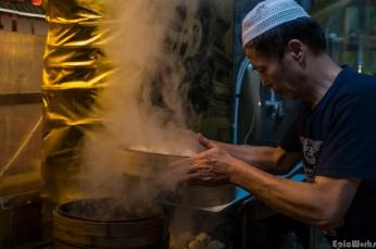 Delicious! Freshly steamed dumplings!