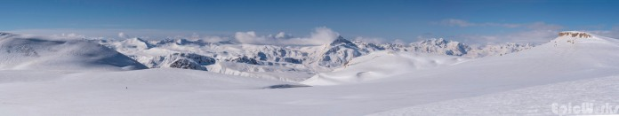 Panorama of the Munzur Mountains