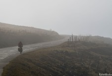 Pedalling to keep warm