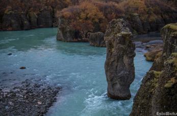 The column just after Brúarhlöð canyon