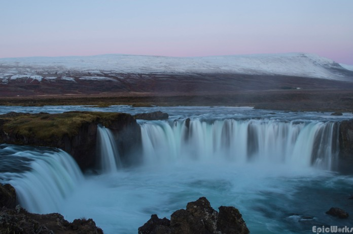 Godafoss at sunrise