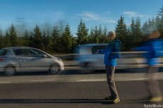 Hitch hiking. A relative experience
