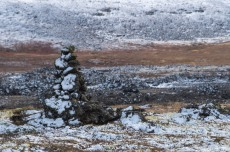 The cairn tells us which way to go, and which way the wind has come