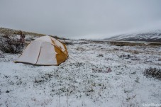 Our camp after a stormy night