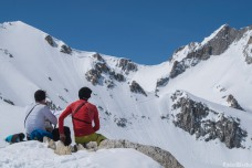 A pause, looking at the Bächilicke Pass