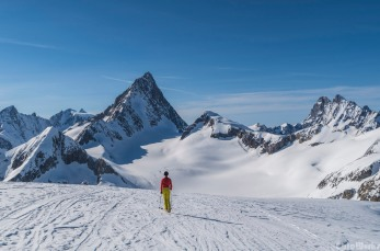The Finsteraarhorn from the East, the highest peak of the Bernese Alps