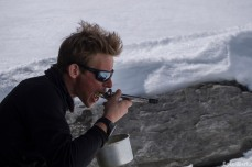 Lunchtime on the glacier